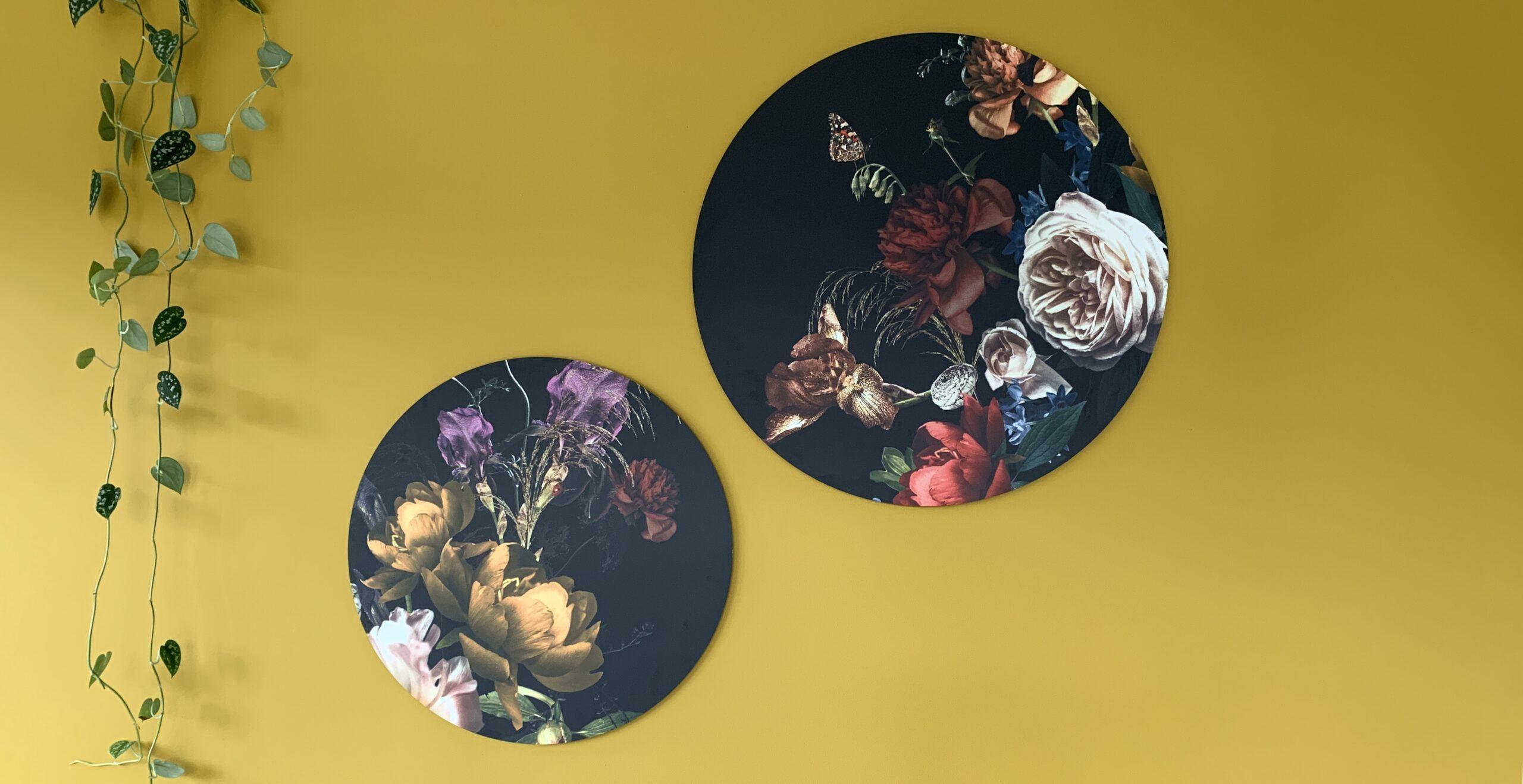 Muurcirkels Dutch Sprinkles flowers set
