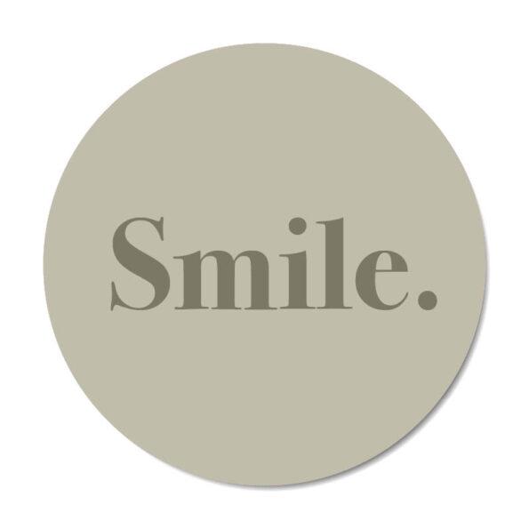 Mini muurcirkel Smile in groen - Dutch Sprinkles