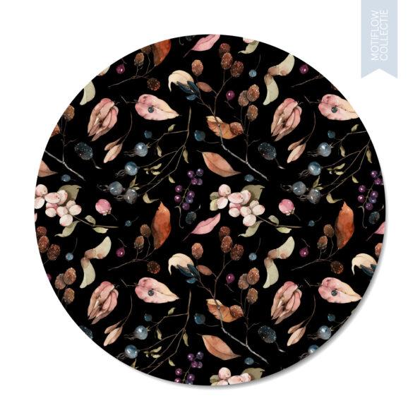 Muurcirkel Dutch Sprinkles Motiflow Mediajamshidi - Black