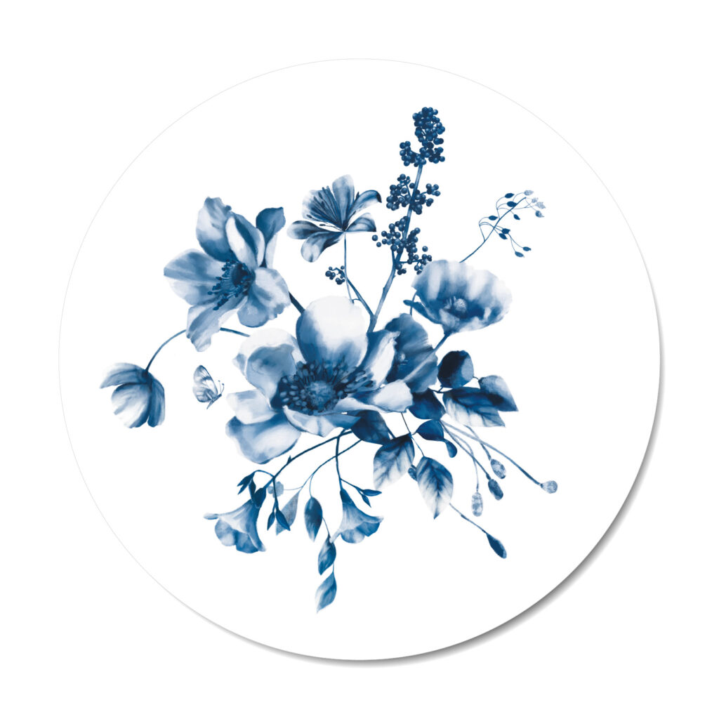 Muurcirkel Delfts blauw 2 Studio Amke x Dutch Sprinkles