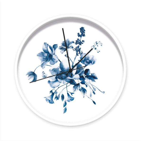 Klok Studio Amke Delfts blauwe bloemen wit frame