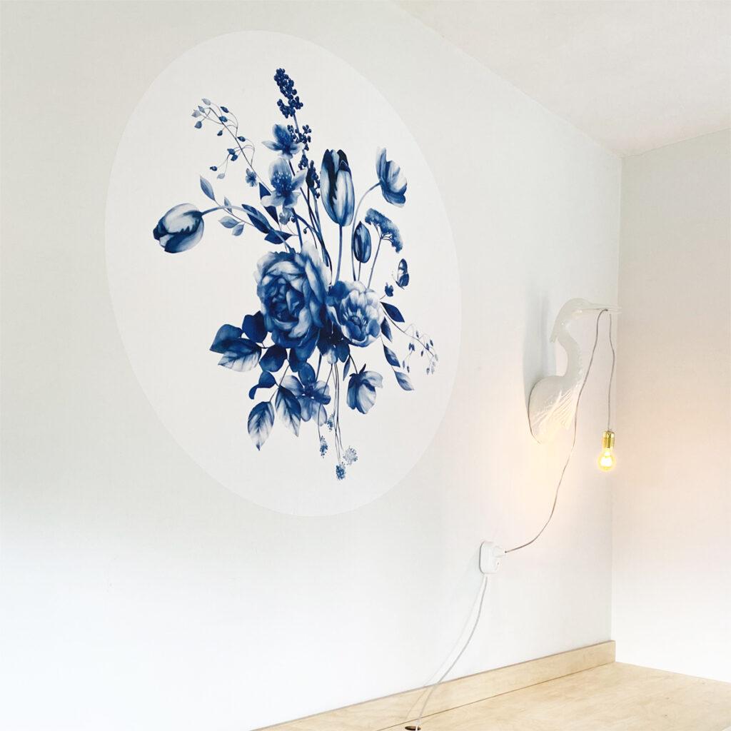 Dutch Sprinkles x Studio Amke Delfts blauwe bloemen 120cm