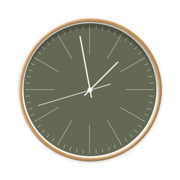 Donker groen klok met strepen | Dutch Sprinkles