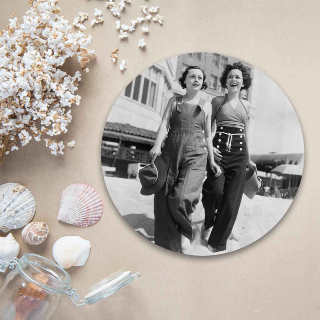 Oude foto op muurcirkel - Dutch Sprinkles