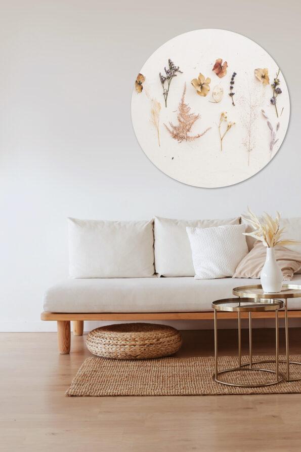 Muurcirkel Droogbloemen in interieur | Dutch Sprinkles