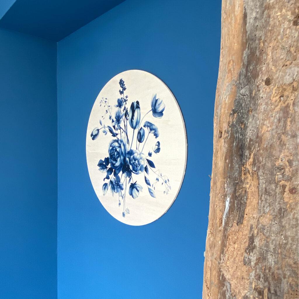 Dutch Sprinkles muurcirkel hout - Delfts Blauw studio Amke