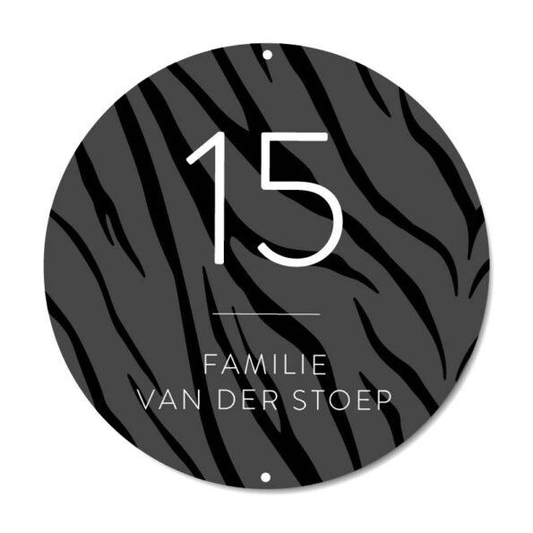 Naambord Zebra - Dutch Sprinkles