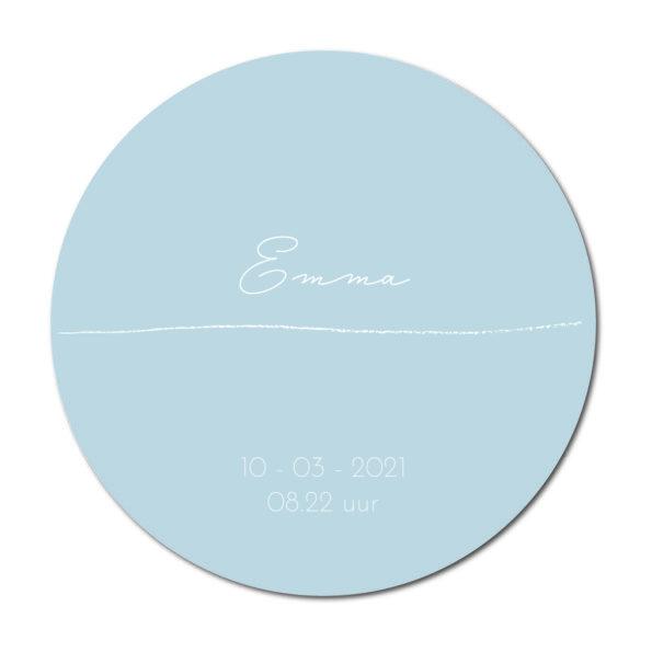 Geboortecirkel Emma baby blue - Dutch Sprinkles