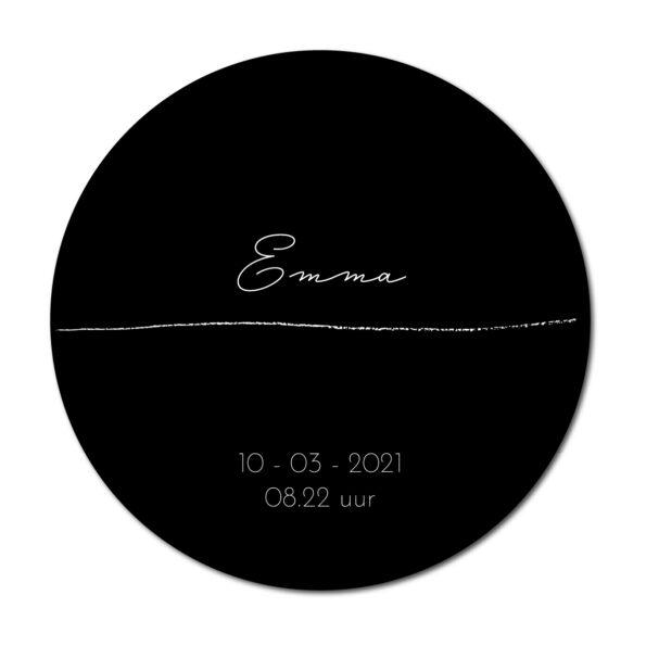 Geboortecirkel Emma zwart - Dutch Sprinkles
