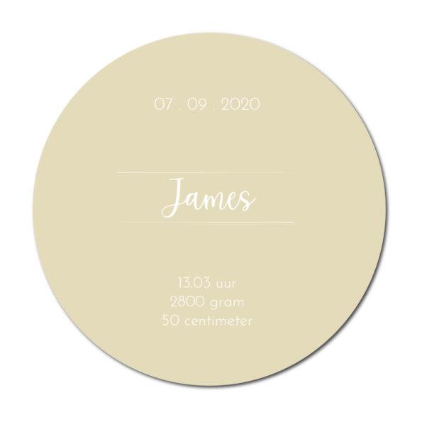 Geboortecirkel James sand - Dutch Sprinkles