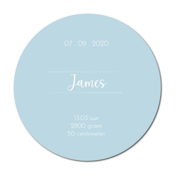 Geboortecirkel James baby blue - Dutch Sprinkles