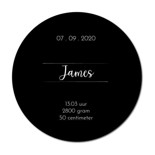 Geboortecirkel James zwart - Dutch Sprinkles