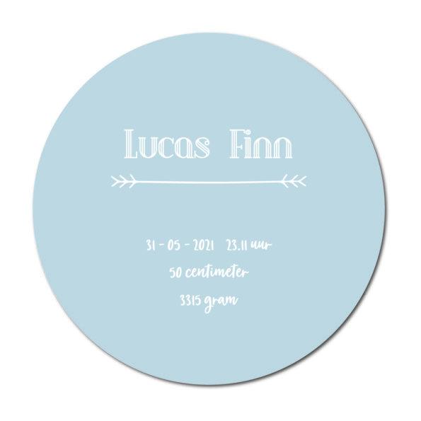 Geboortecirkel Lukas baby blue - Dutch Sprinkles