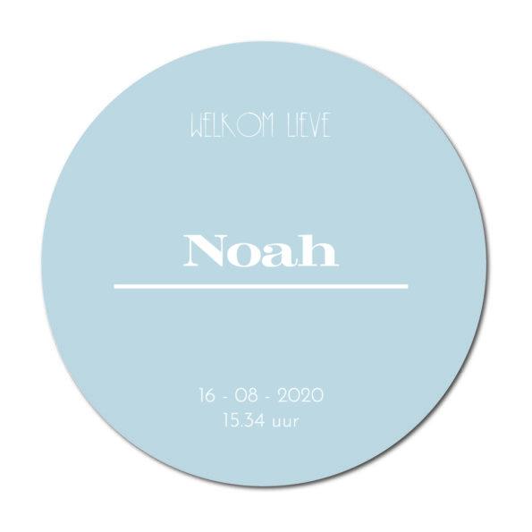Geboortecirkel Noah baby blue - Dutch Sprinkles