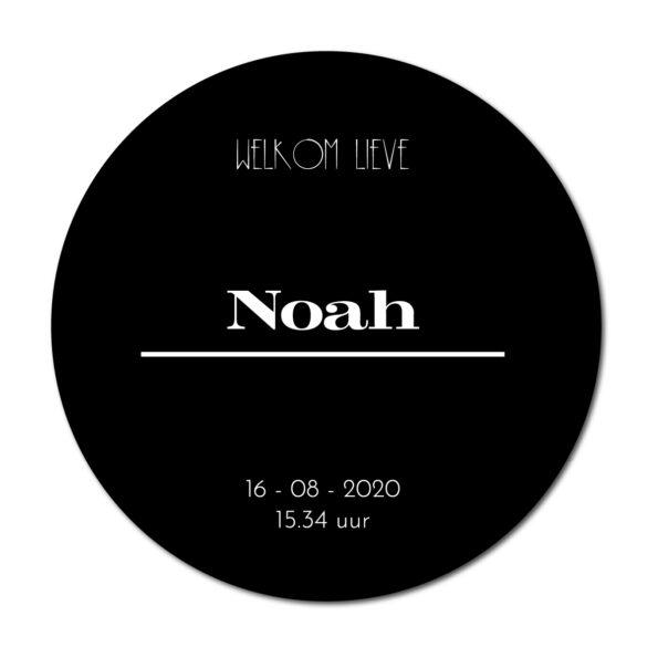 Geboortecirkel Noah zwart - Dutch Sprinkles