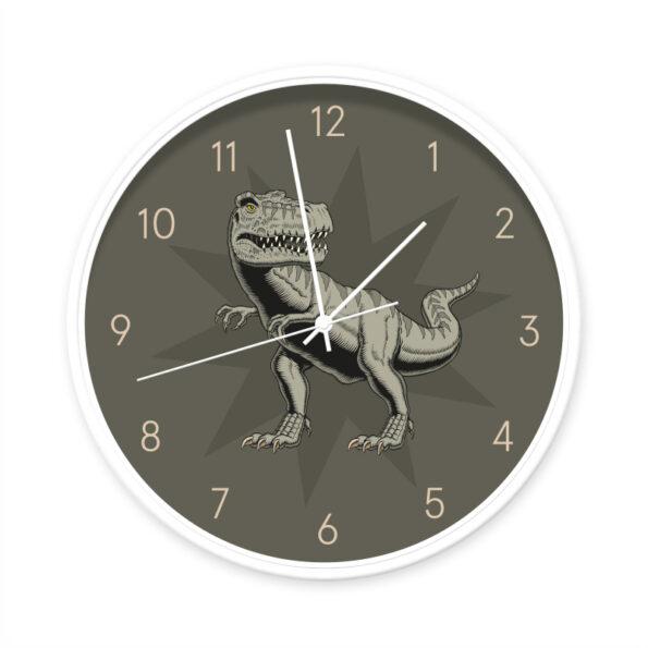 Klok T-rex wit/wit