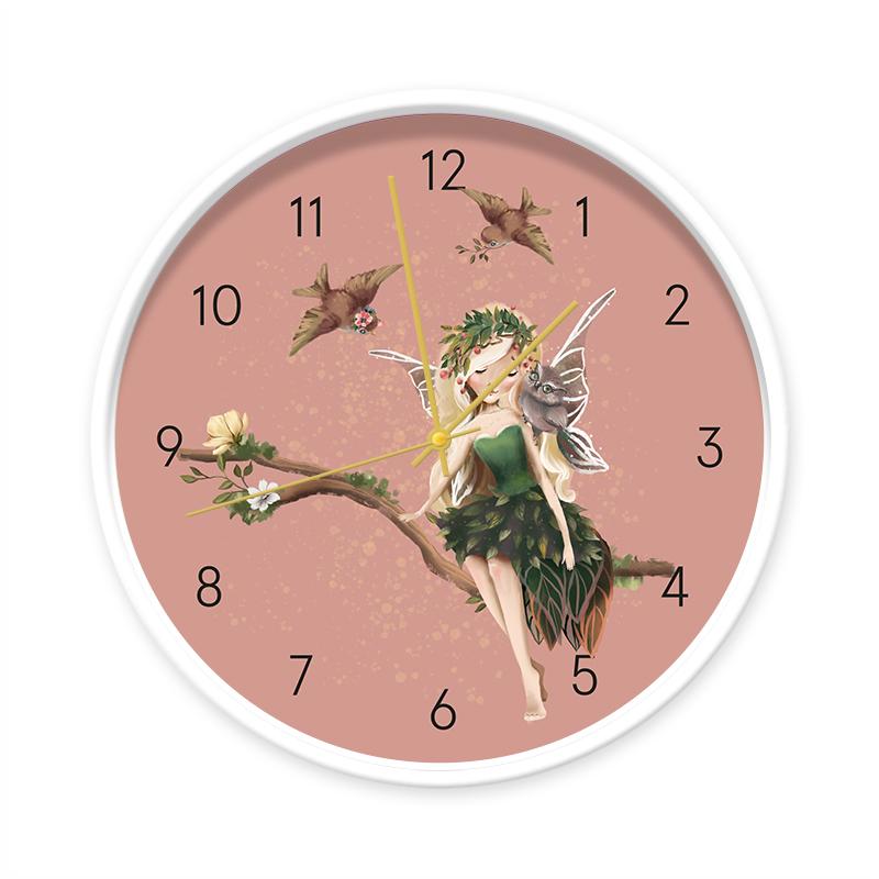 Klok Fairy Aurora wit/goud