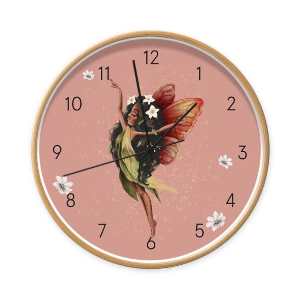 Klok Fairy Melody hout/zwart - Dutch Sprinkles