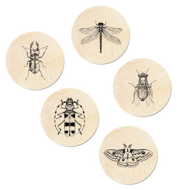 Houten muurcirkel set Insects - Dutch Sprinkles