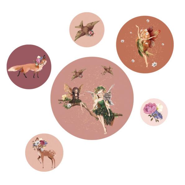 Productafbeelding Muurstickers Fairy Aurora - Dutch Sprinkles
