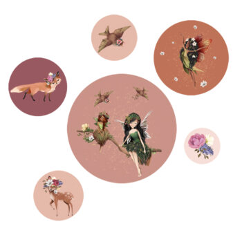Productafbeelding Muurstickers Fairy Melody - Dutch Sprinkles