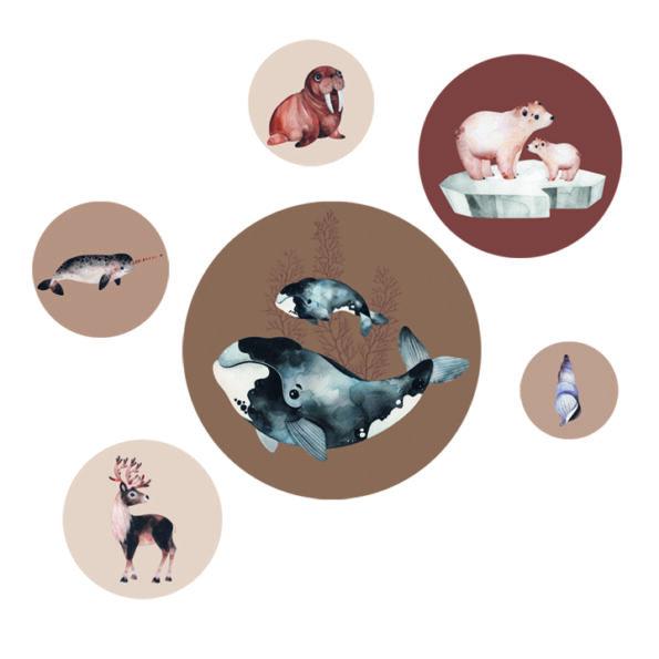 Productafbeelding Muurstickers Sealife Brown - Dutch Sprinkles