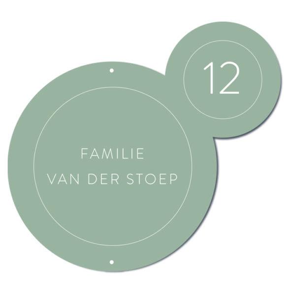 Naambord Bubbles groen Dutch Sprinkles