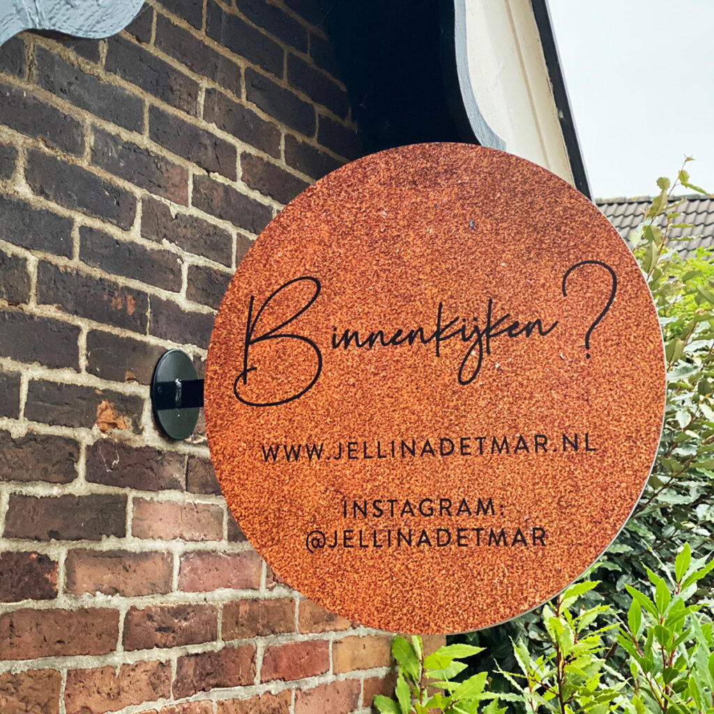 Uithangbord Jellina Detmar van Dutch Sprinkles
